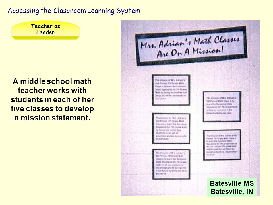 Teacher as Leader Assessing the Classroom Learning System. Teacher & Student Partnerships Part I. Facilitator's Guide.