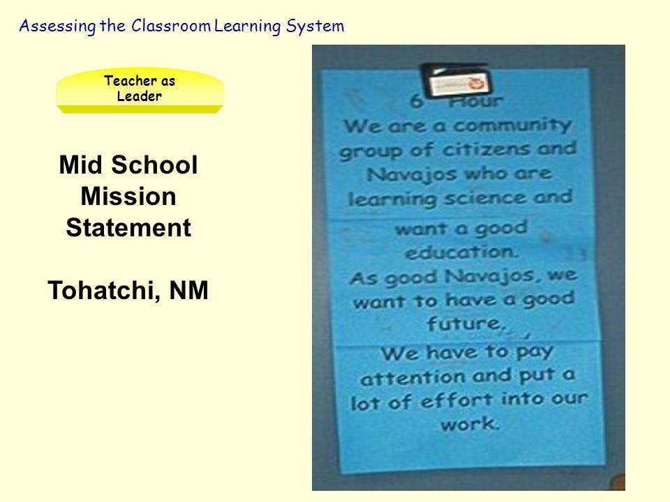 Mid School Mission Statement