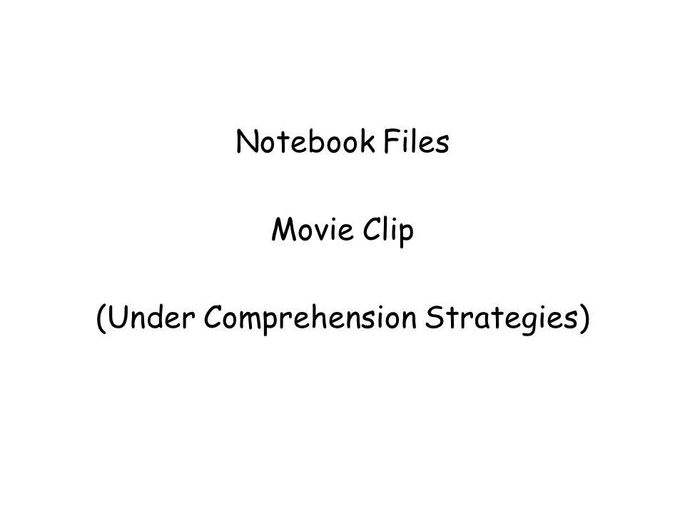 (Under Comprehension Strategies)