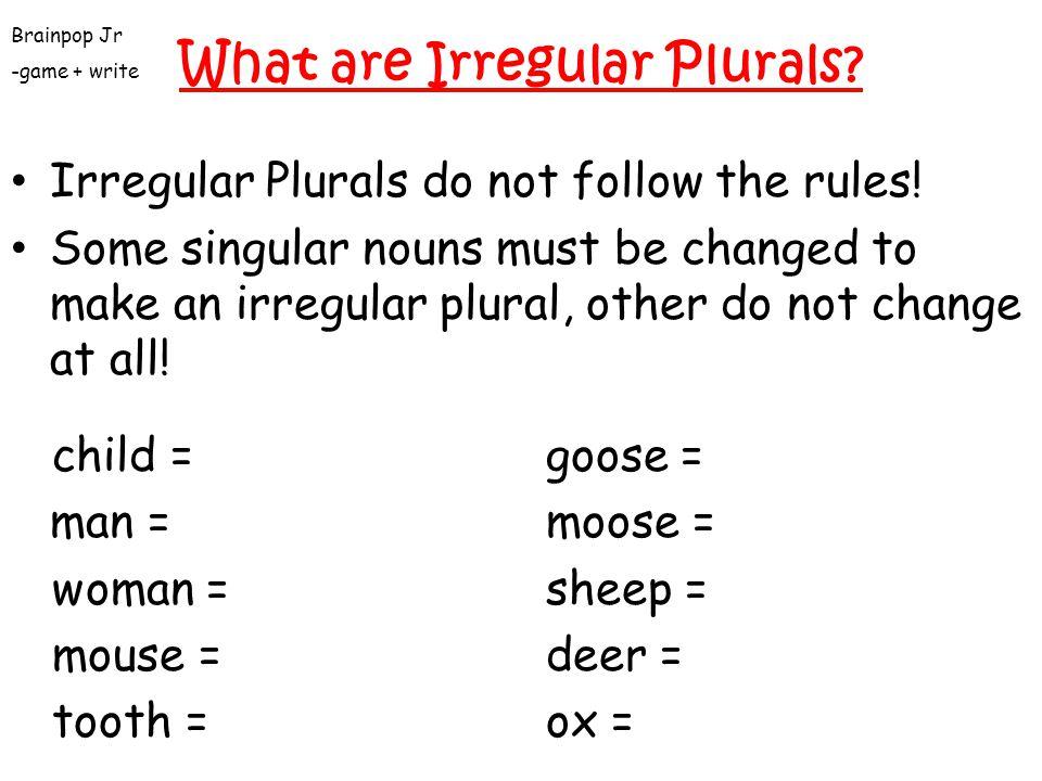 What are Irregular Plurals