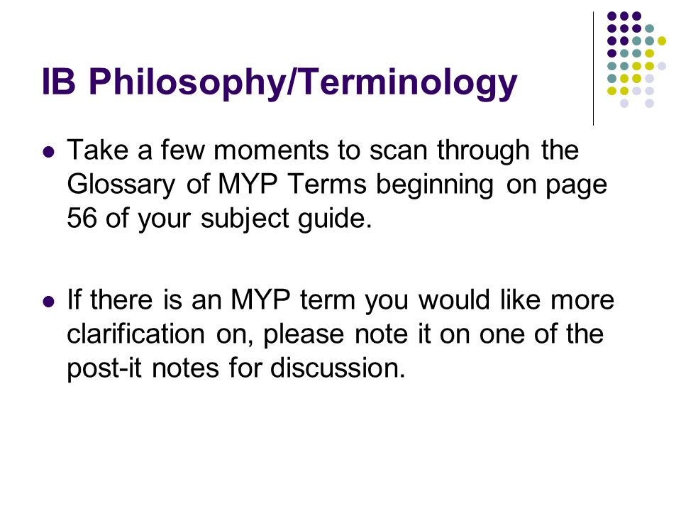 IB Philosophy/Terminology