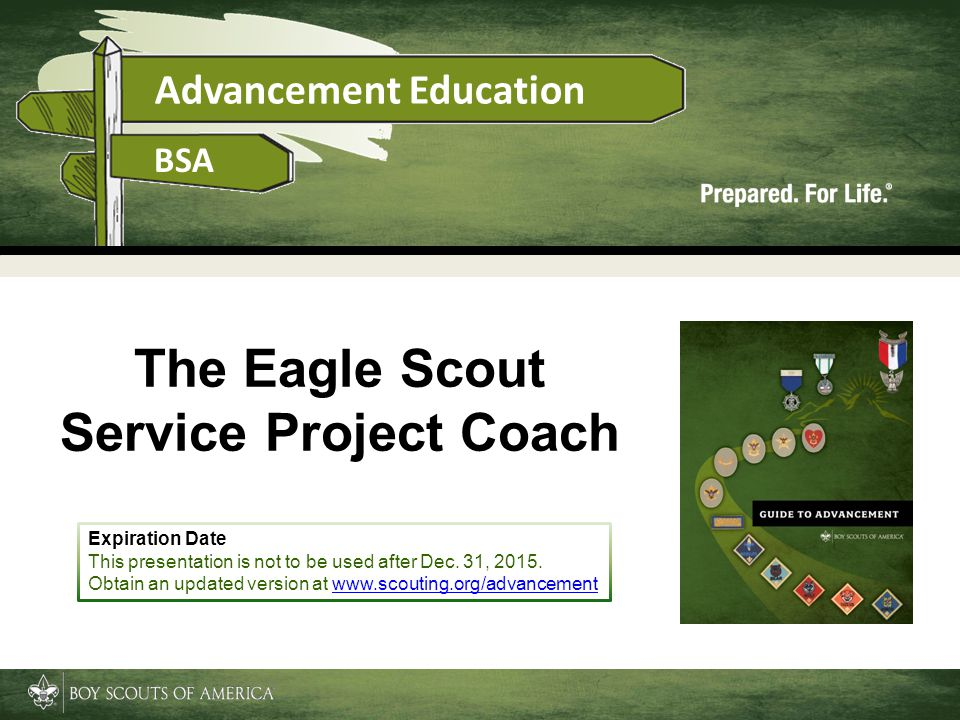 The Eagle Scout Service Project Coach
