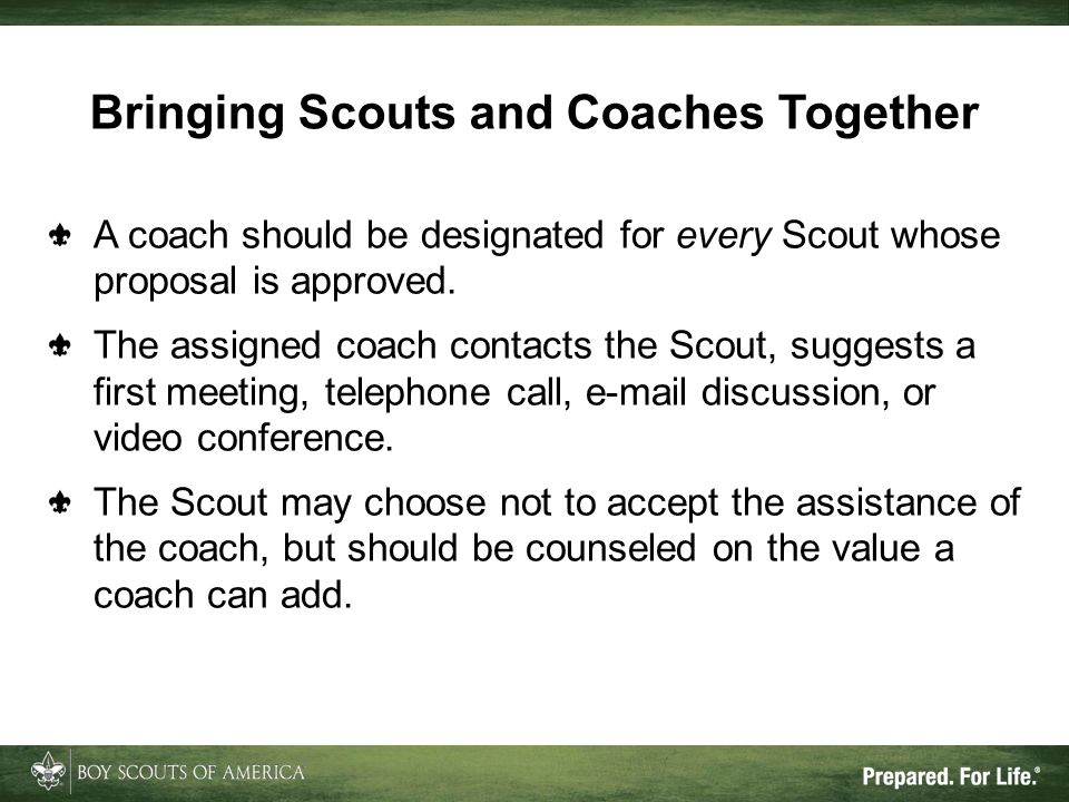 Bringing Scouts and Coaches Together