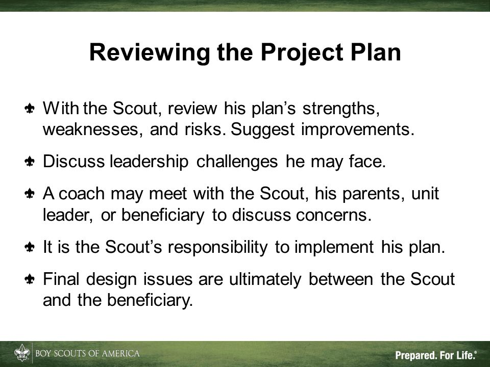 Reviewing the Project Plan