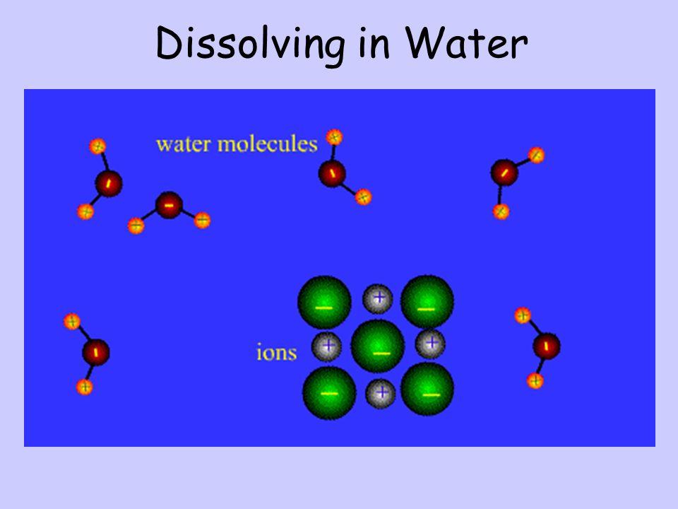 Dissolving in Water