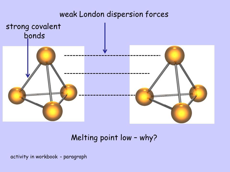 weak London dispersion forces