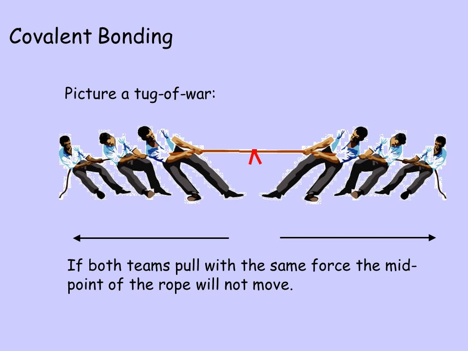 Covalent Bonding Picture a tug-of-war:
