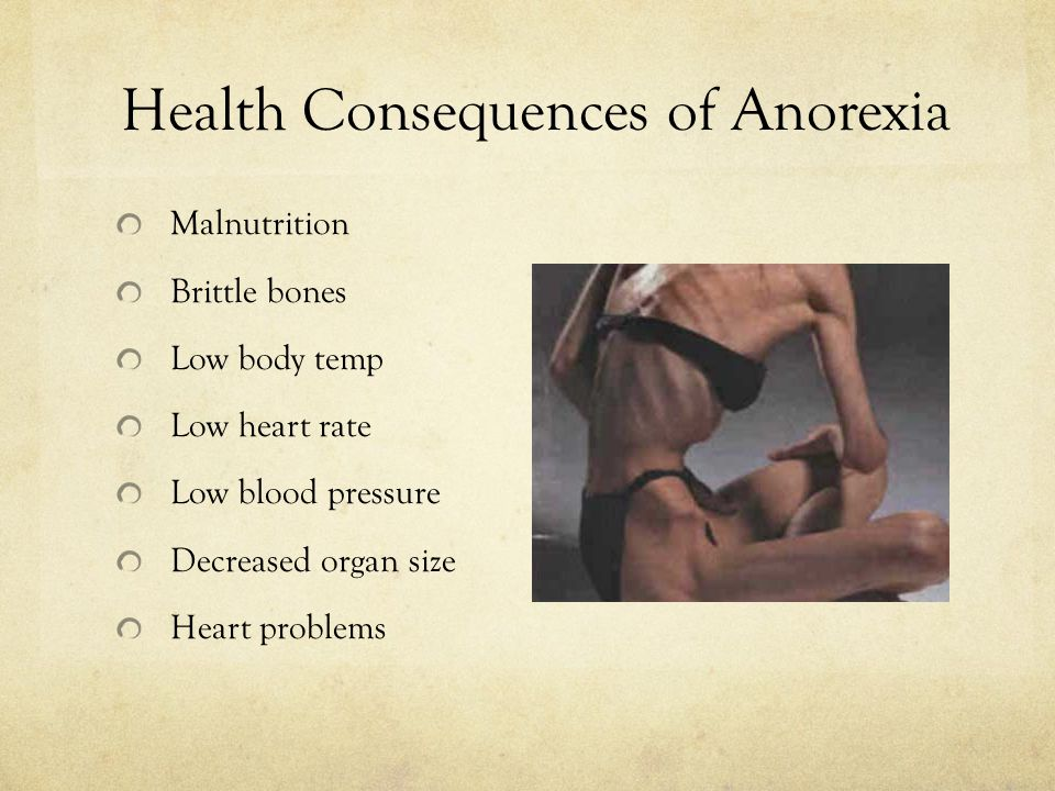 Health Consequences of Anorexia