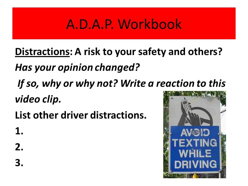 A.D.A.P. Workbook A.D.A.P. Workbook