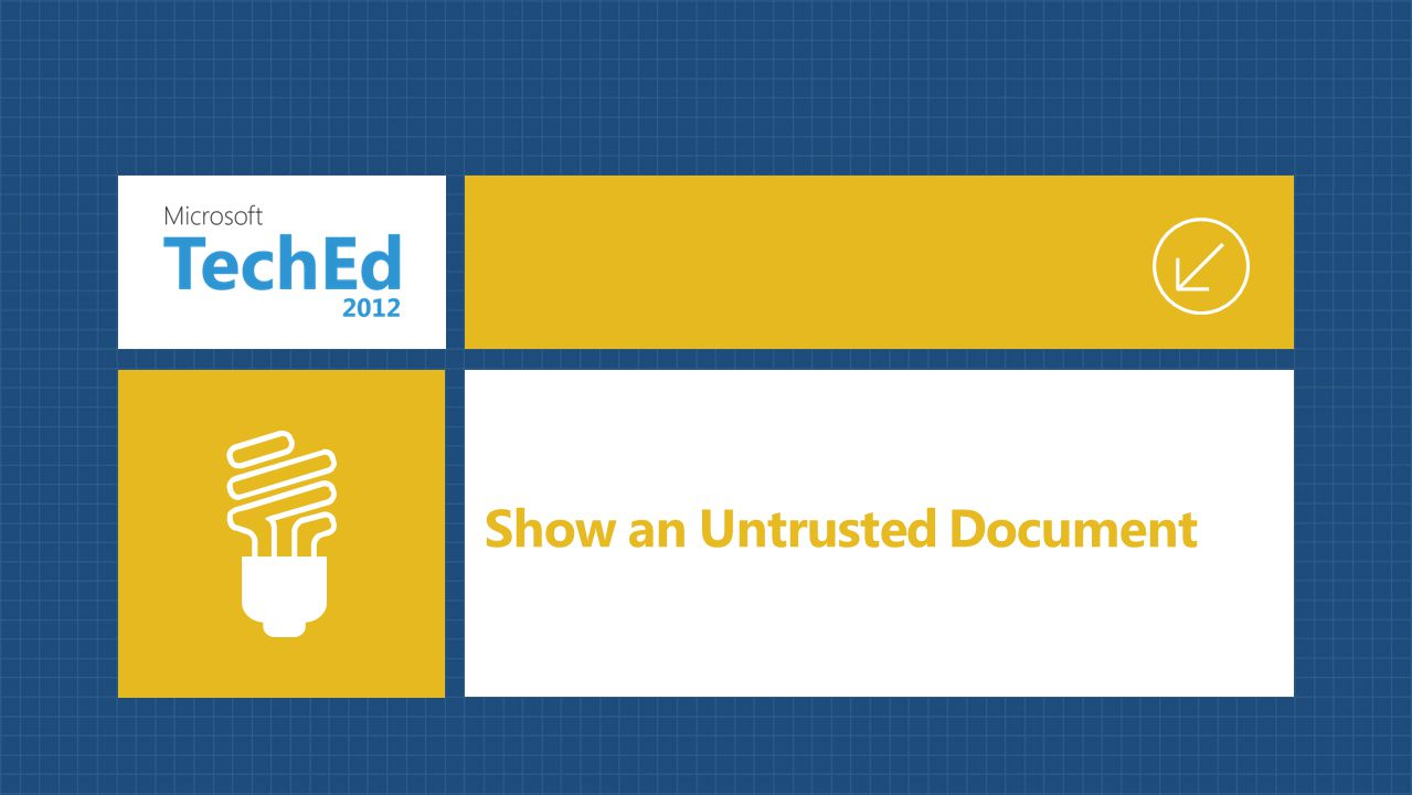 Show an Untrusted Document