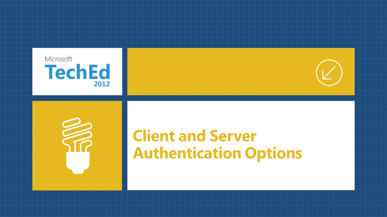 Client and Server Authentication Options