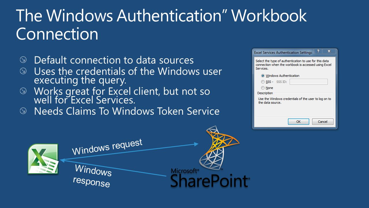 The Windows Authentication Workbook Connection