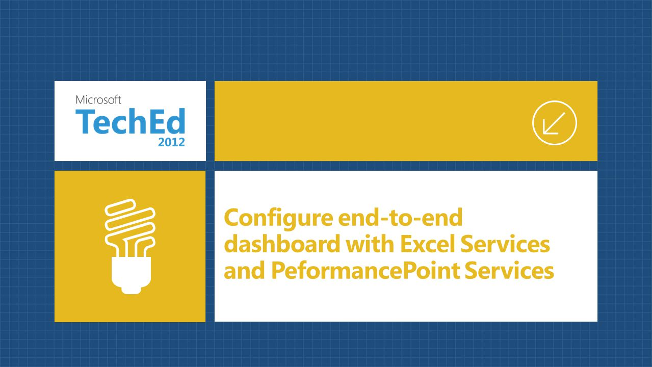 Configure end-to-end dashboard with Excel Services and PeformancePoint Services