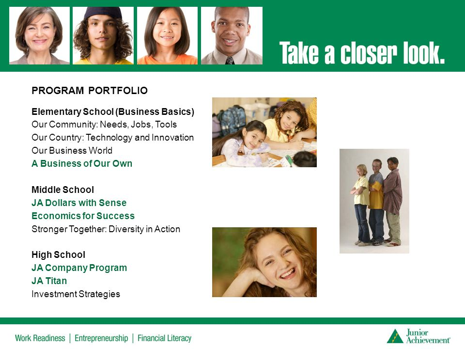 PROGRAM PORTFOLIO Elementary School (Business Basics)