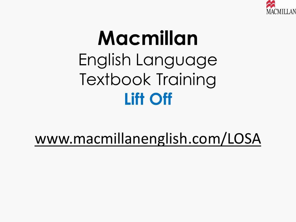 Macmillan English Language Textbook Training Lift Off www