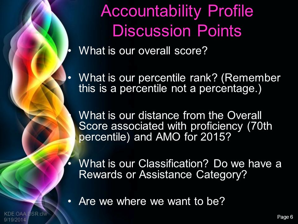 Accountability Profile Discussion Points