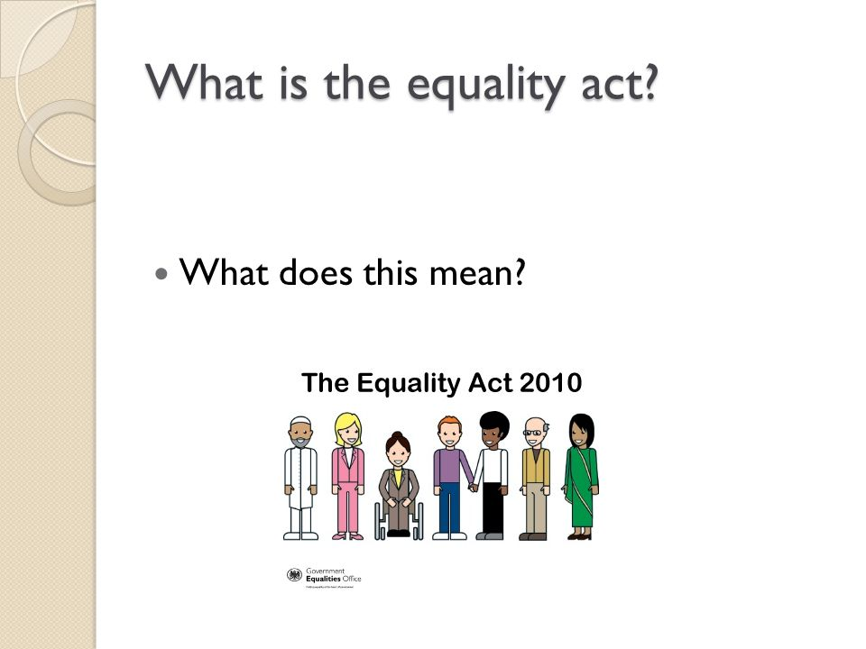 What is the equality act