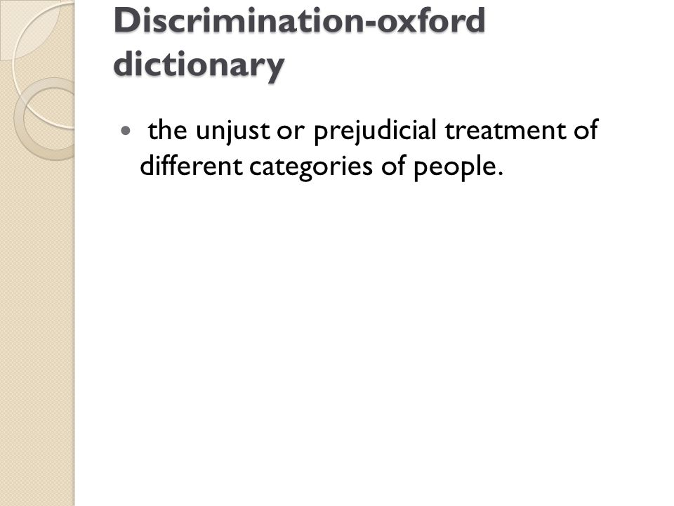 Discrimination-oxford dictionary
