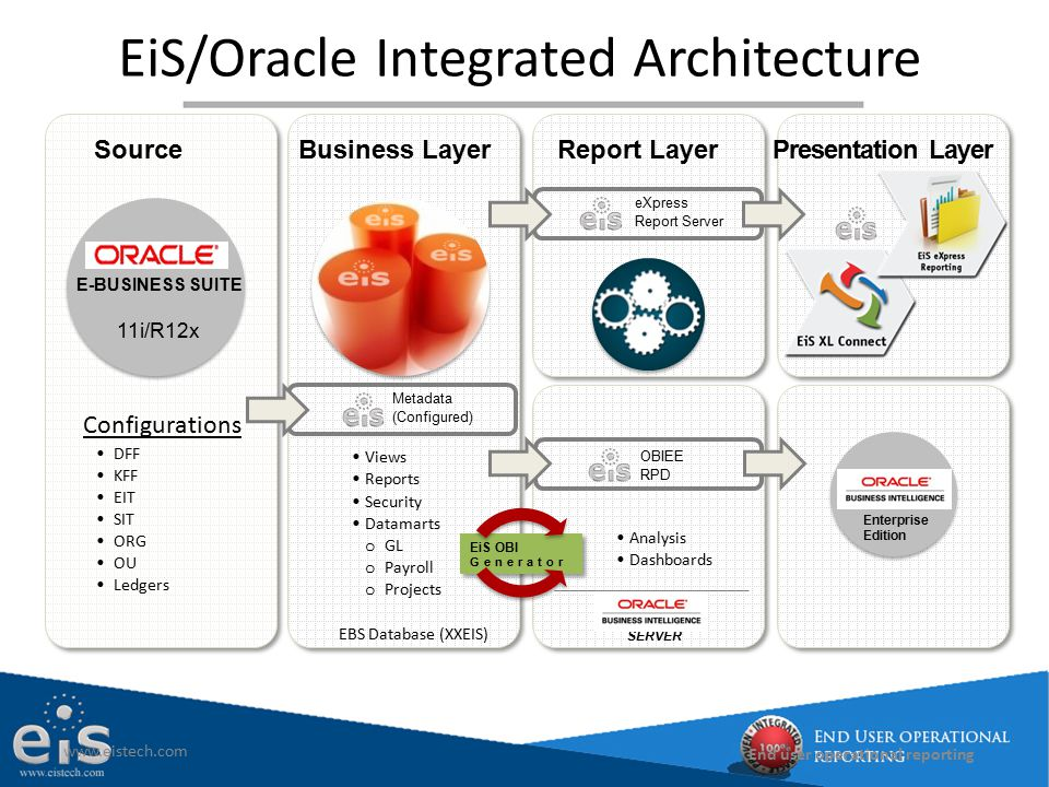 EiS/Oracle Integrated Architecture