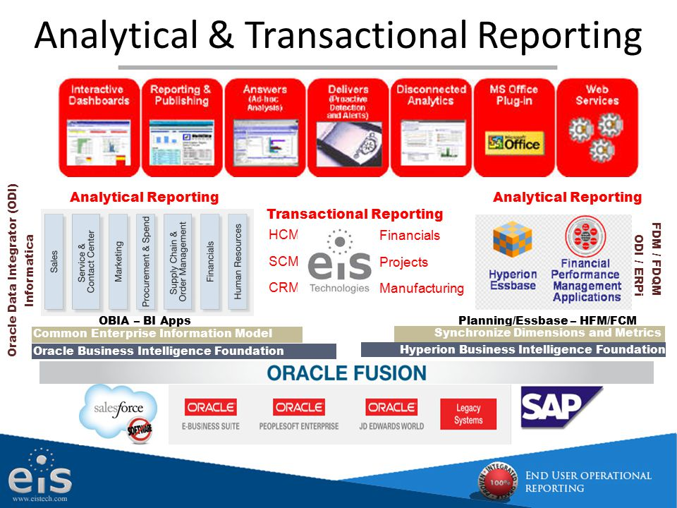 Analytical & Transactional Reporting