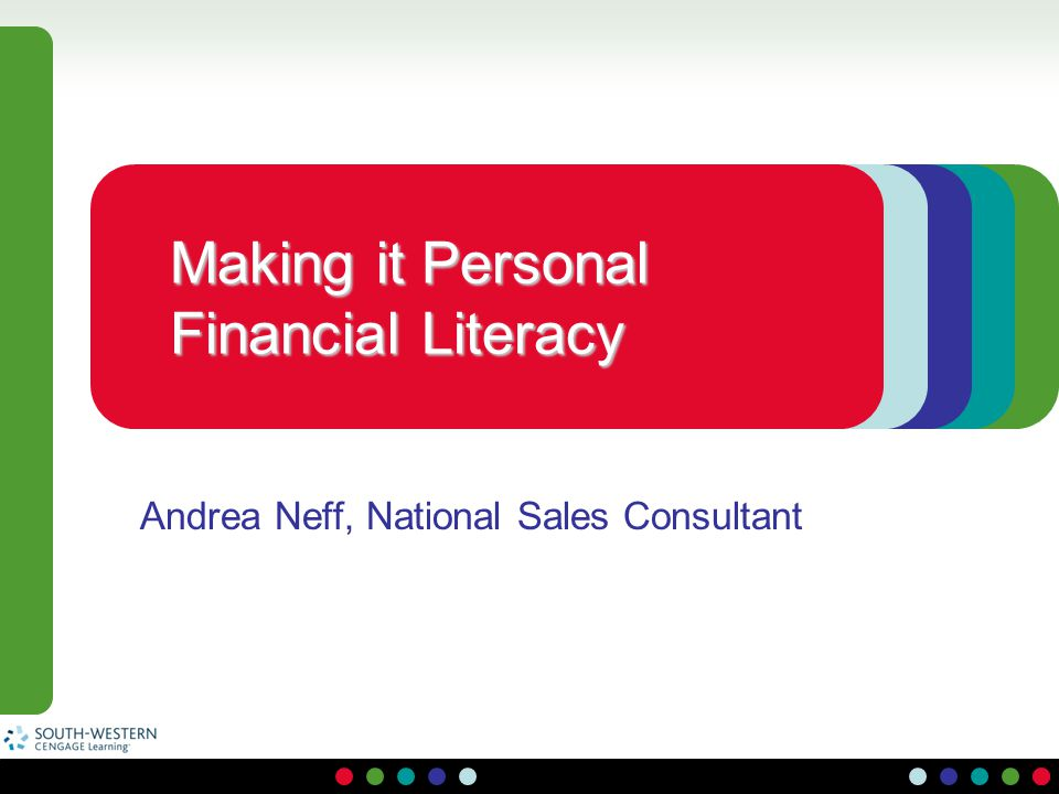 Making it Personal Financial Literacy