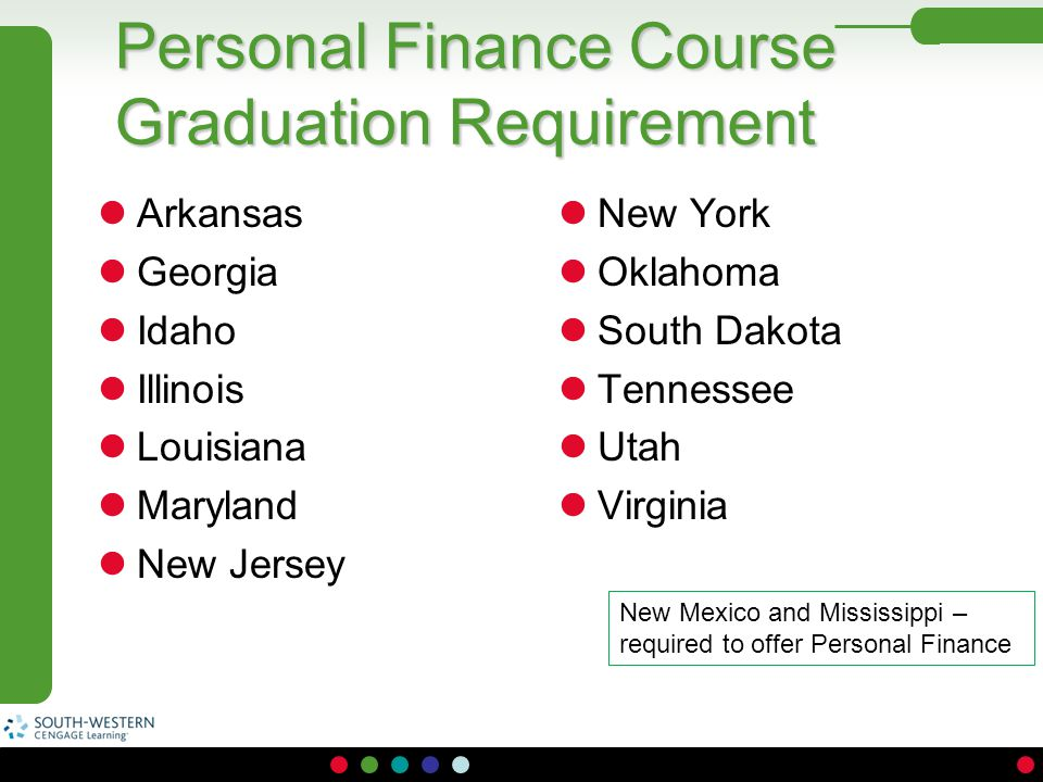 Personal Finance Course Graduation Requirement
