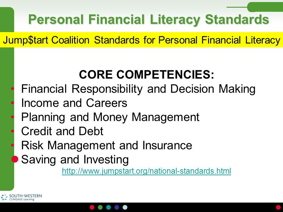 Personal Financial Literacy Standards
