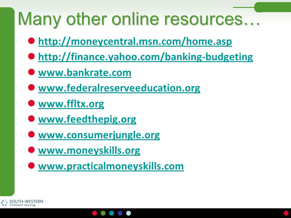 Many other online resources…