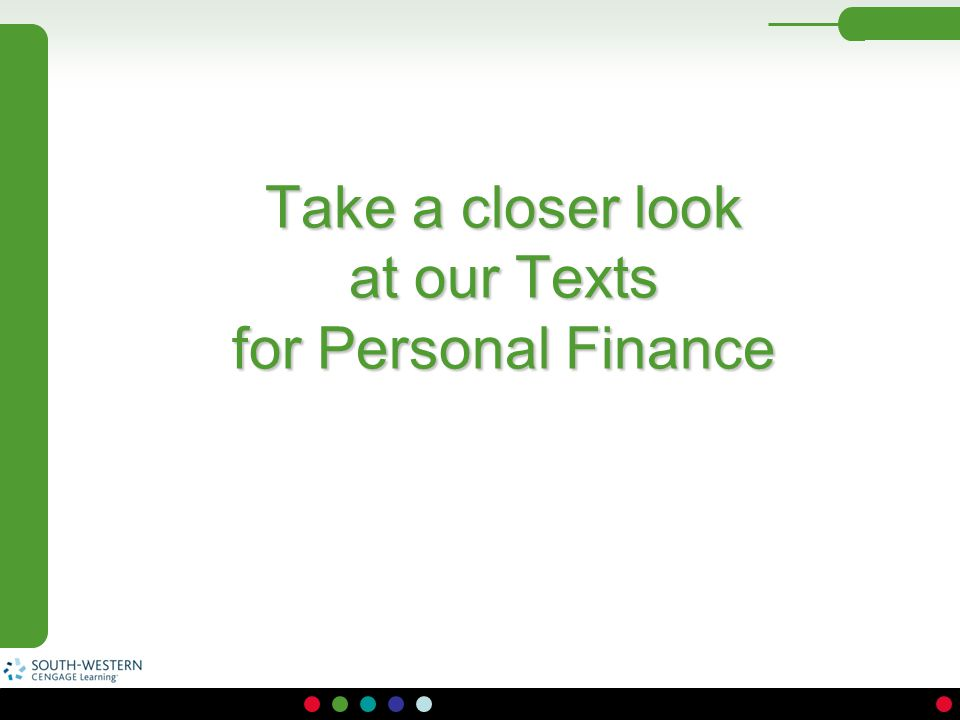 Take a closer look at our Texts for Personal Finance
