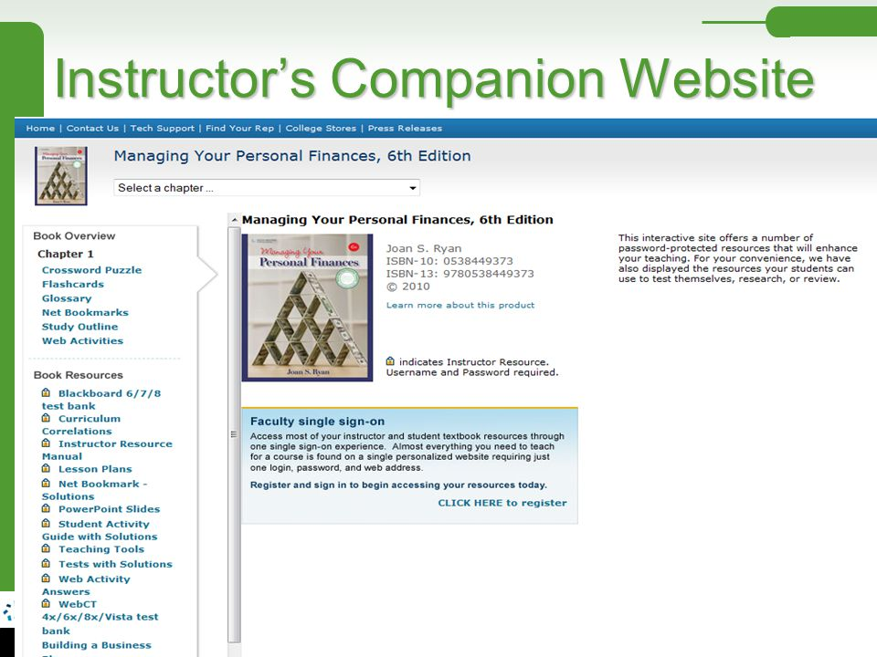 Instructor's Companion Website