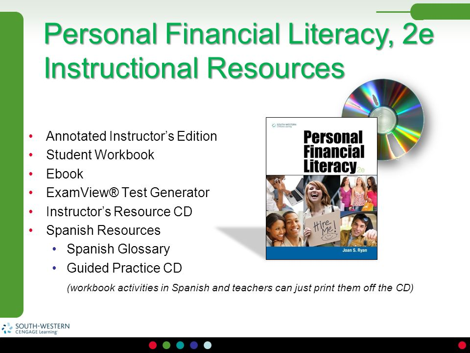 Personal Financial Literacy, 2e Instructional Resources
