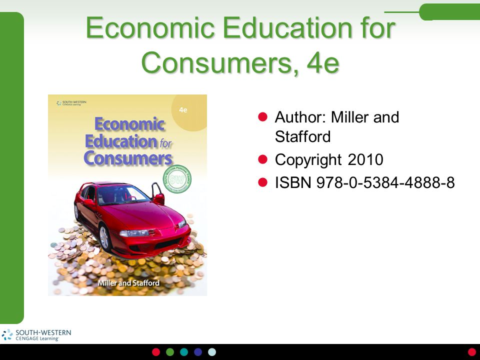 Economic Education for Consumers, 4e