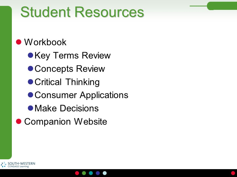 Student Resources Workbook Key Terms Review Concepts Review