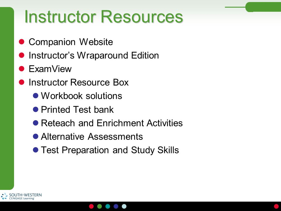 Instructor Resources Companion Website Instructor's Wraparound Edition