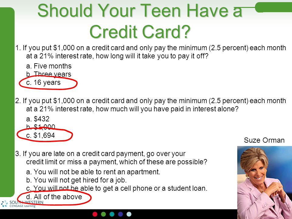 Should Your Teen Have a Credit Card