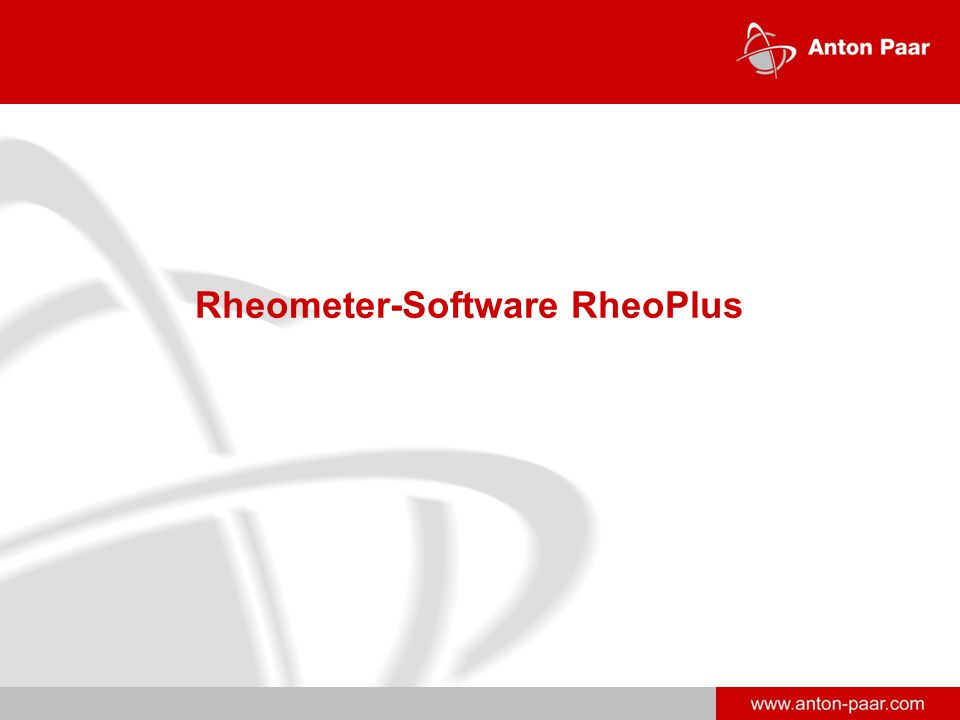 Rheometer-Software RheoPlus