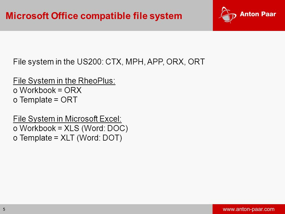 Microsoft Office compatible file system