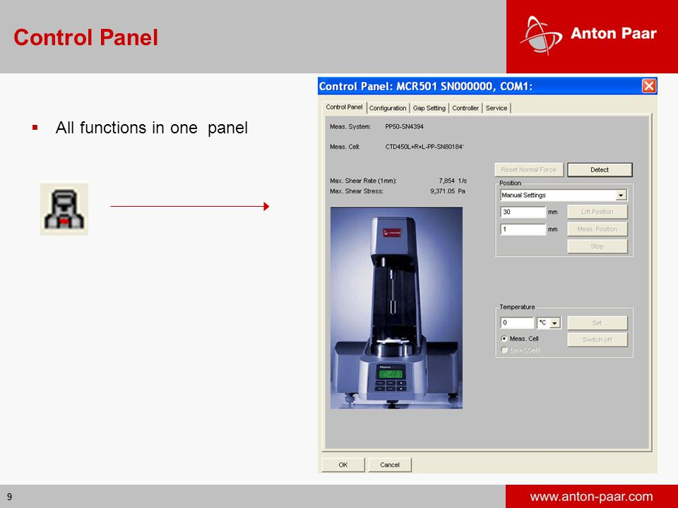 Control Panel All functions in one panel