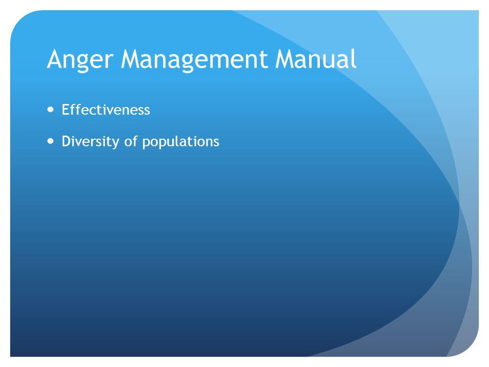 Anger Management Manual