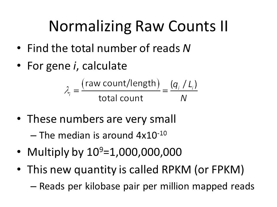 Normalizing Raw Counts II