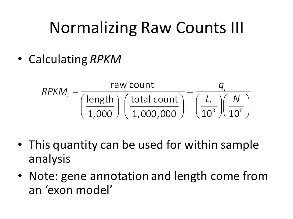 Normalizing Raw Counts III