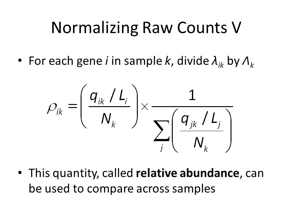 Normalizing Raw Counts V