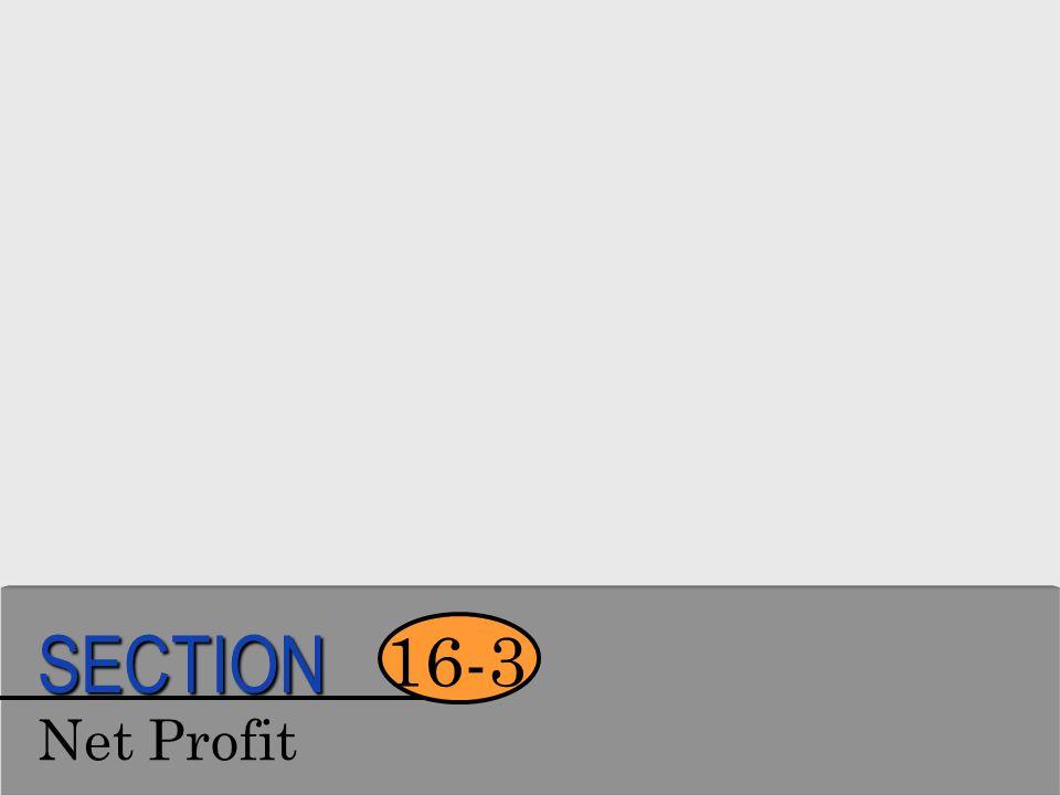 SECTION 16-3 Net Profit