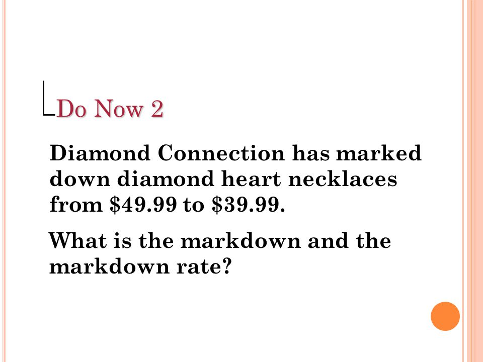 Do Now 2 Diamond Connection has marked down diamond heart necklaces from $49.99 to $39.99.