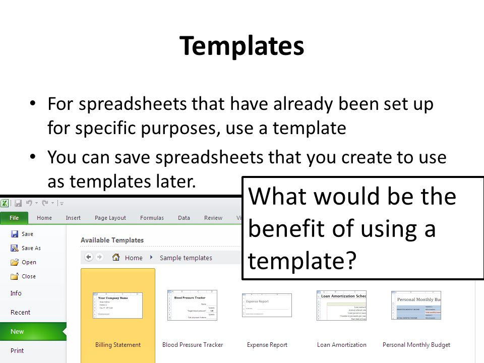 Templates What would be the benefit of using a template