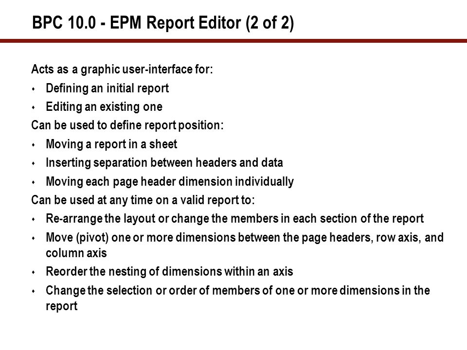 The EPM add-in Process Poll Question