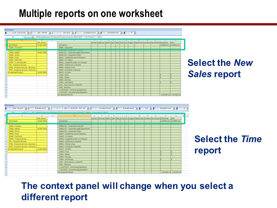 How to Shift Report with Negative Values