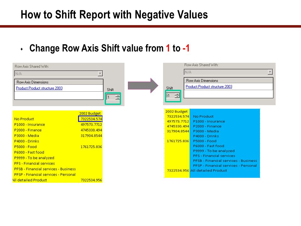 Sample Reports Using EPM Add-In