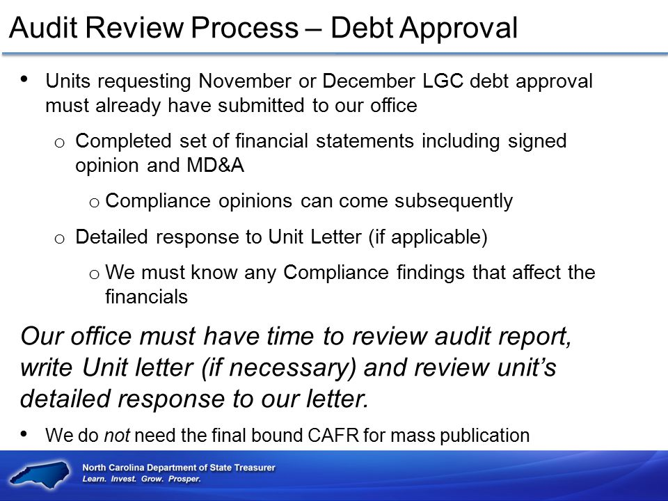 Audit Review Process – Debt Approval