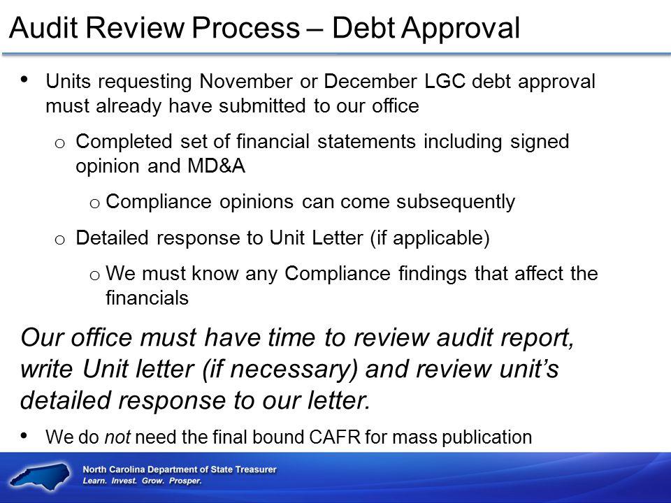 Audit Review Process – Debt Approval